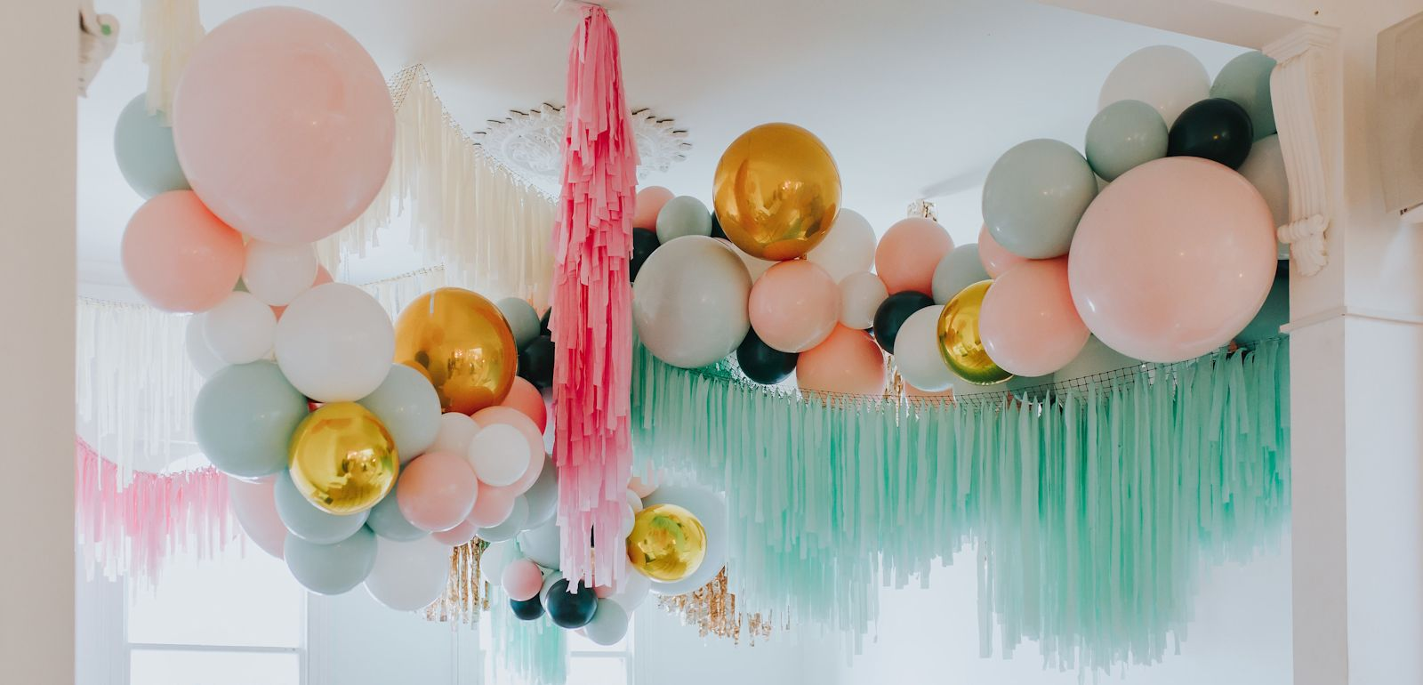 balloon and tassel garland