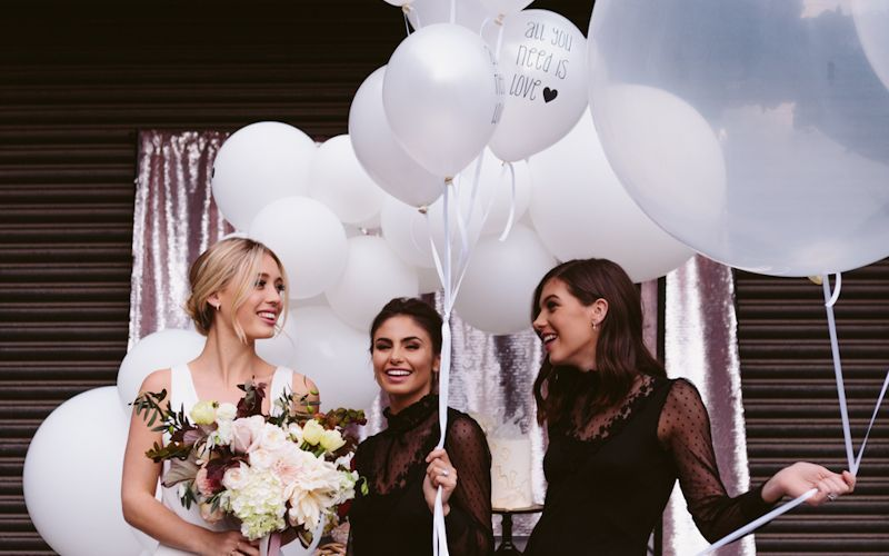 balloons for bride