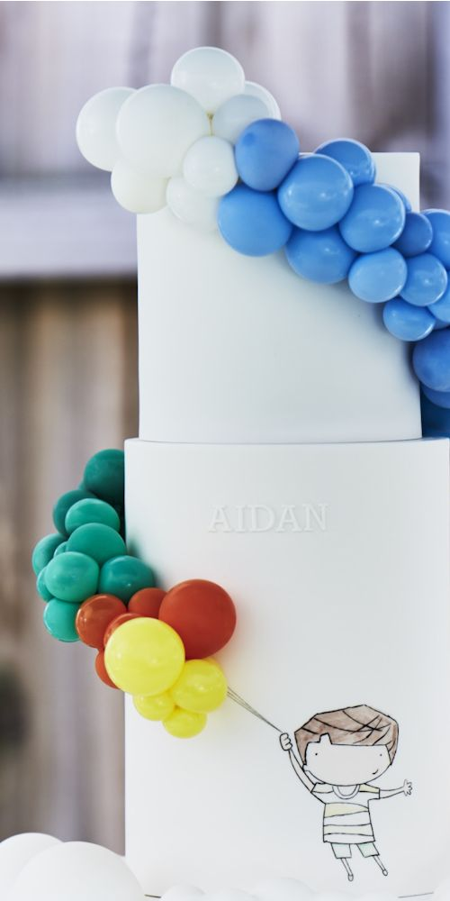 cake with balloons L