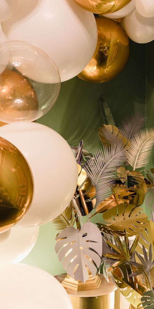 golden palms gatsby wedding L