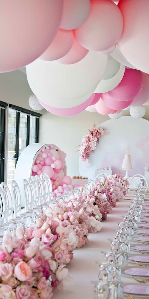 pink balloon garland renee L